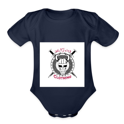 Skull sheild - Organic Short Sleeve Baby Bodysuit