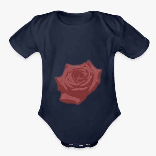Down Rose Modern - Organic Short Sleeve Baby Bodysuit