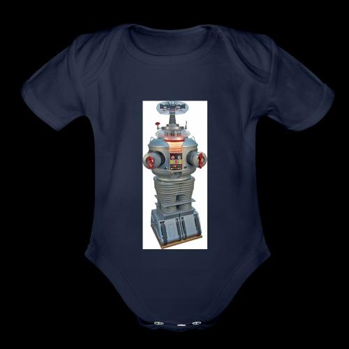 vacile droid - Organic Short Sleeve Baby Bodysuit