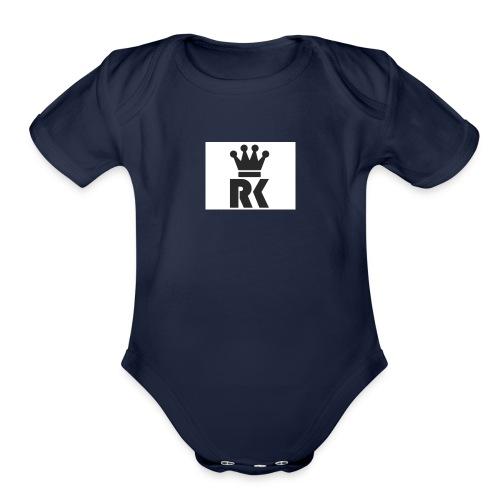 rk1_logo - Organic Short Sleeve Baby Bodysuit