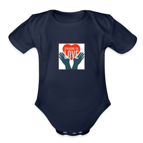 Spreading The Love - Organic Short Sleeve Baby Bodysuit