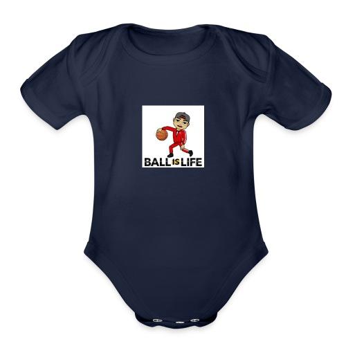 Ball is Life - Organic Short Sleeve Baby Bodysuit
