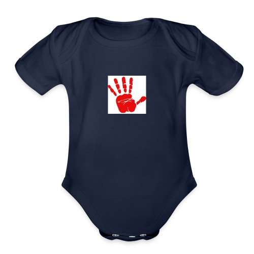 Victory high five - Organic Short Sleeve Baby Bodysuit
