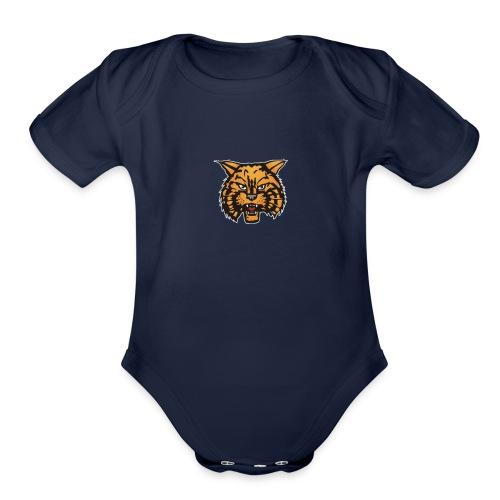 bobcatlogo - Organic Short Sleeve Baby Bodysuit