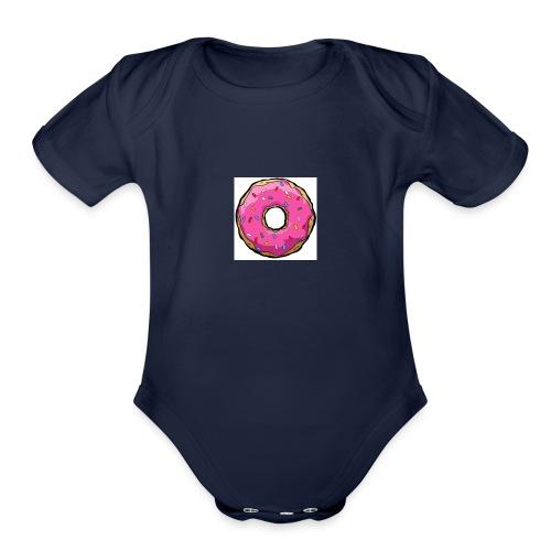 DONUT FOR ENTERPRISE - Organic Short Sleeve Baby Bodysuit