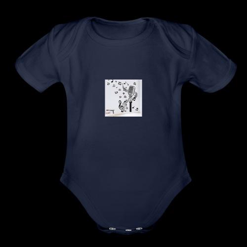 Music Mic - Organic Short Sleeve Baby Bodysuit