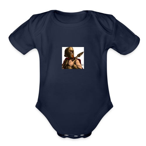 lanceypooh 2 - Organic Short Sleeve Baby Bodysuit