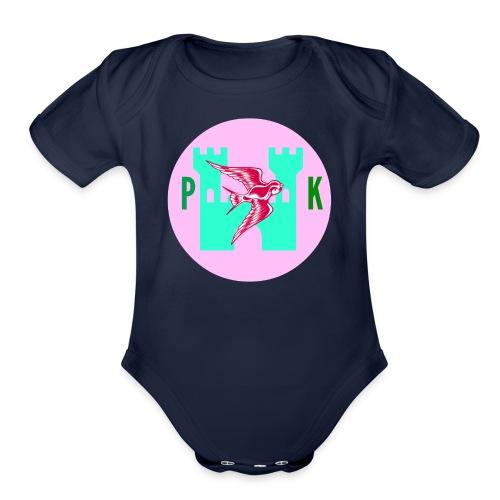 Pink Phoenix Kingdom Logo - Organic Short Sleeve Baby Bodysuit