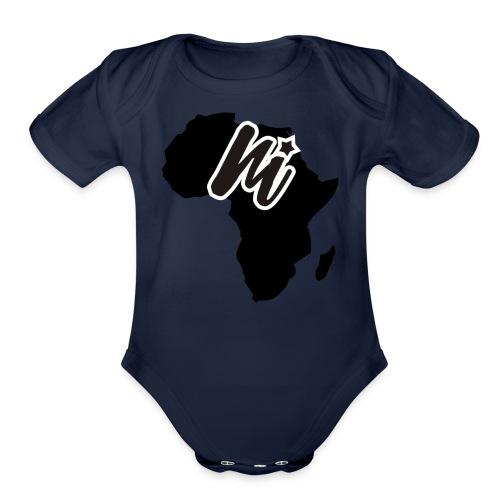 monibra.africacollection - Organic Short Sleeve Baby Bodysuit
