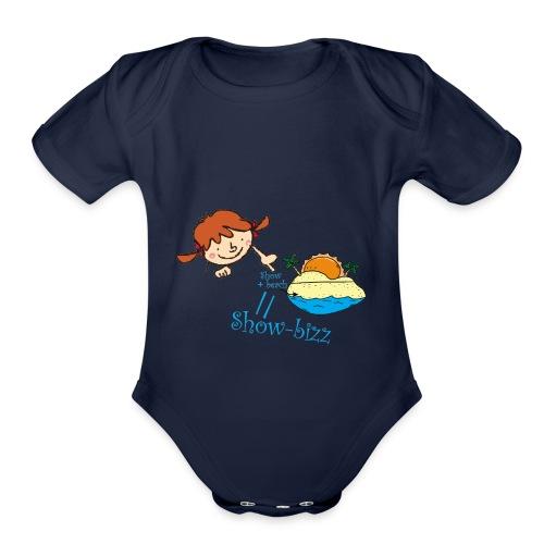 Showbeach - Organic Short Sleeve Baby Bodysuit
