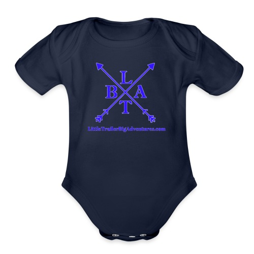 Blue LTBA Logo - Organic Short Sleeve Baby Bodysuit