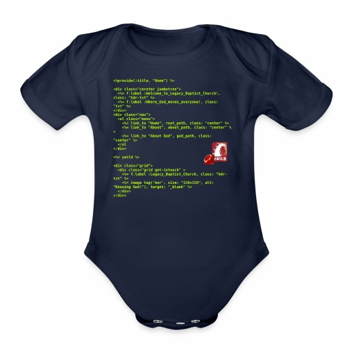 RoR Code 1 - Organic Short Sleeve Baby Bodysuit
