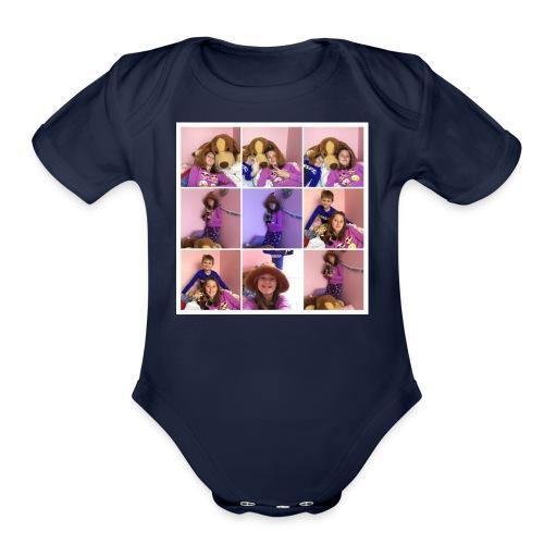 family colloge - Organic Short Sleeve Baby Bodysuit