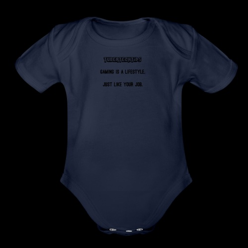 Gaming is a lifestyle - Organic Short Sleeve Baby Bodysuit