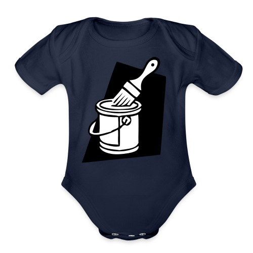 paintbrush - Organic Short Sleeve Baby Bodysuit