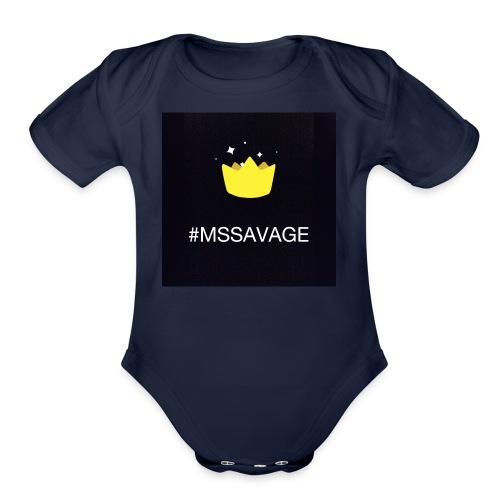 #MSSAVAGE merch - Organic Short Sleeve Baby Bodysuit