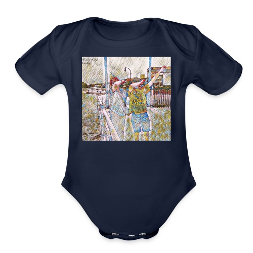 Do The Dab x2 - Organic Short Sleeve Baby Bodysuit