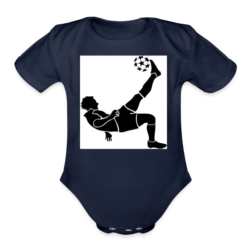 Kids Football/Soccer Hoodie - Organic Short Sleeve Baby Bodysuit