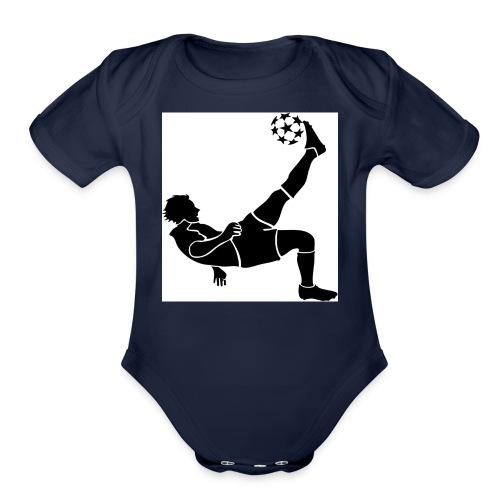Kids Football/Soccer Hoodie - Organic Short Sleeve Baby Bodysuit