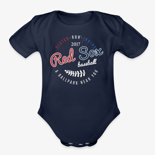 Clutch-Run-Inning Tee shirt - Organic Short Sleeve Baby Bodysuit