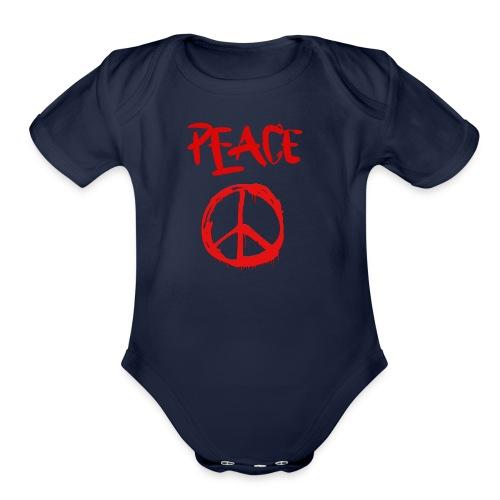 Peace1 - Organic Short Sleeve Baby Bodysuit