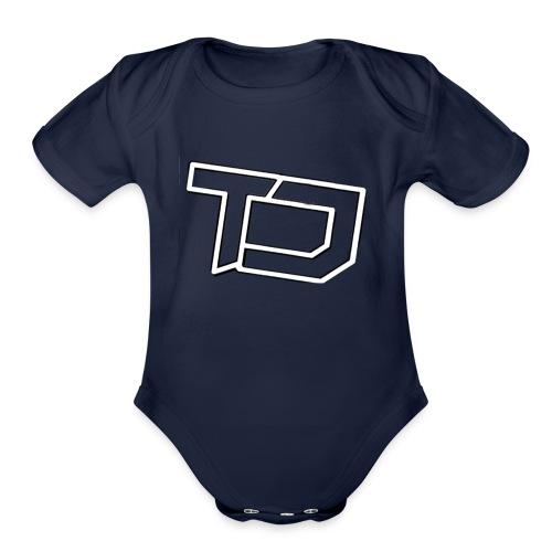 Team Discords Logo - Organic Short Sleeve Baby Bodysuit