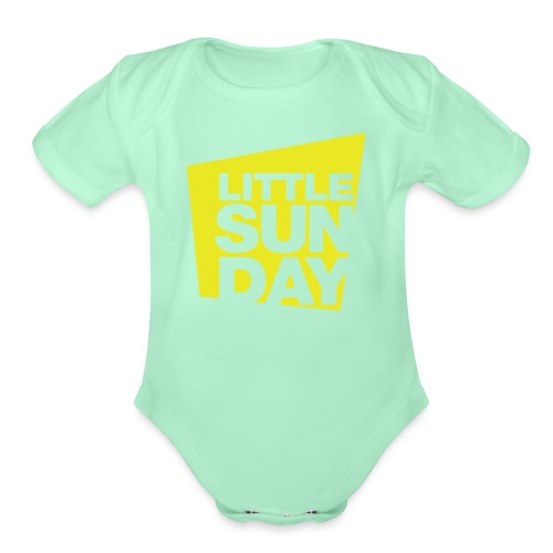 littleSUNDAY Official Logo - Organic Short Sleeve Baby Bodysuit