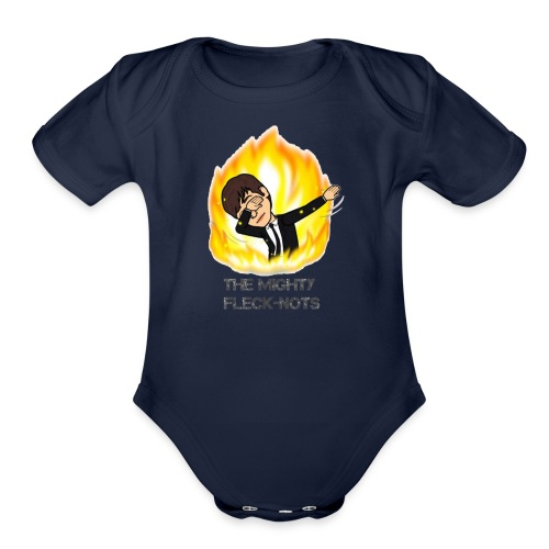 the mighty Fleck Nots - Organic Short Sleeve Baby Bodysuit