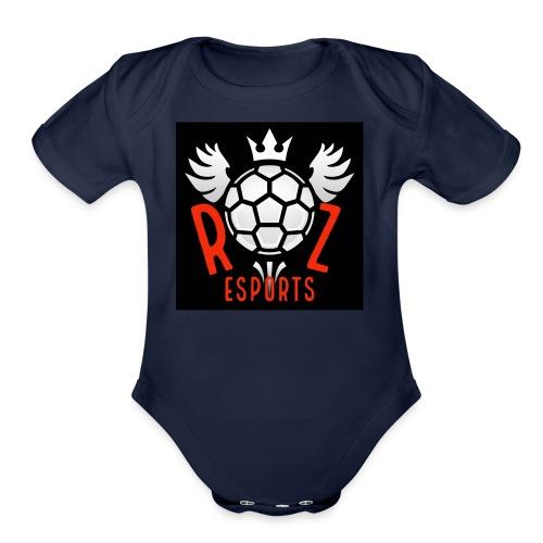 Rz Logo - Organic Short Sleeve Baby Bodysuit
