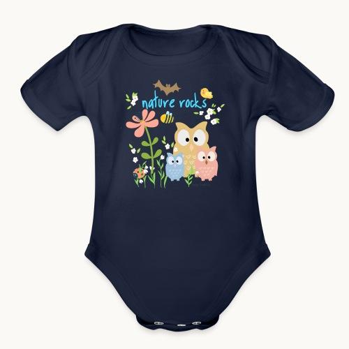 NATURE ROCKS CHILDREN Carolyn Sandstrom THR - Organic Short Sleeve Baby Bodysuit