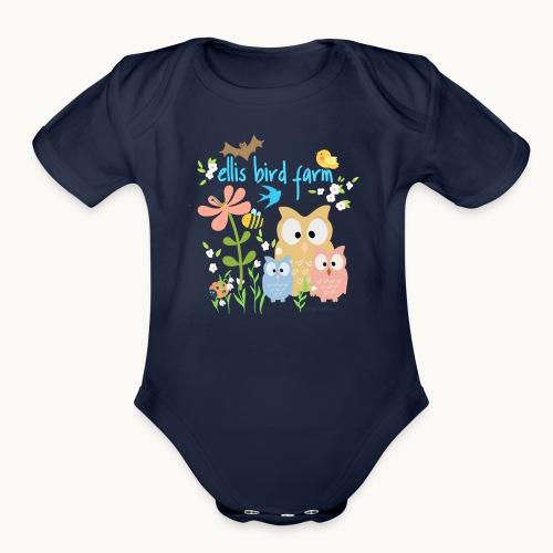 NATURE - Ellis Bird Farm - Carolyn Sandstrom - Organic Short Sleeve Baby Bodysuit