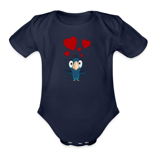 birdie - Organic Short Sleeve Baby Bodysuit