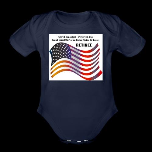 retired Military Dependents - Organic Short Sleeve Baby Bodysuit
