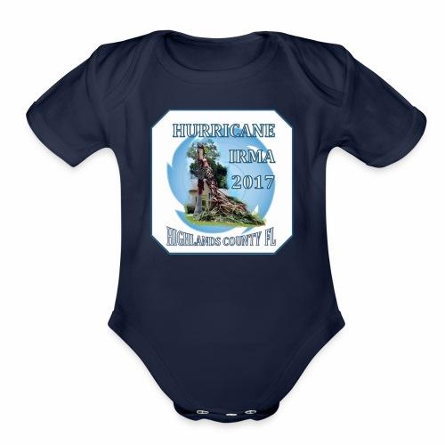HIGHLANDS COUNTY FL HURRICANE IRMA - Organic Short Sleeve Baby Bodysuit