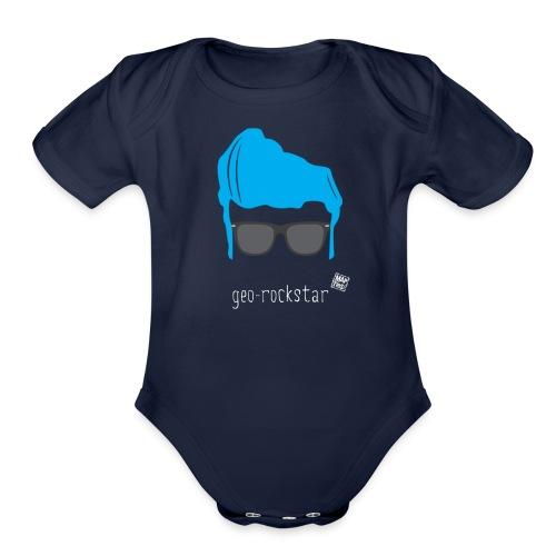 Geo Rockstar (him) - Organic Short Sleeve Baby Bodysuit