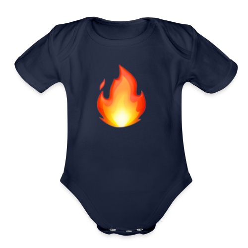 FIRE - Organic Short Sleeve Baby Bodysuit