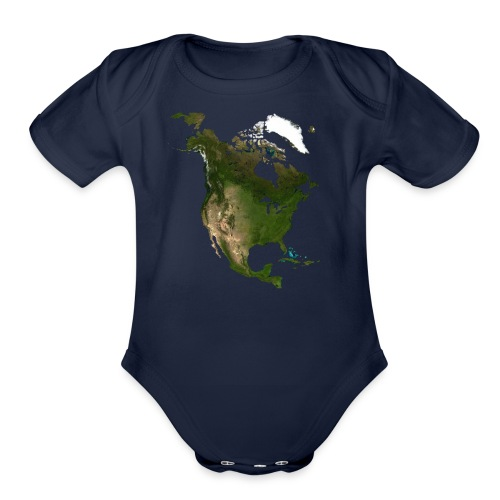 North America - Organic Short Sleeve Baby Bodysuit