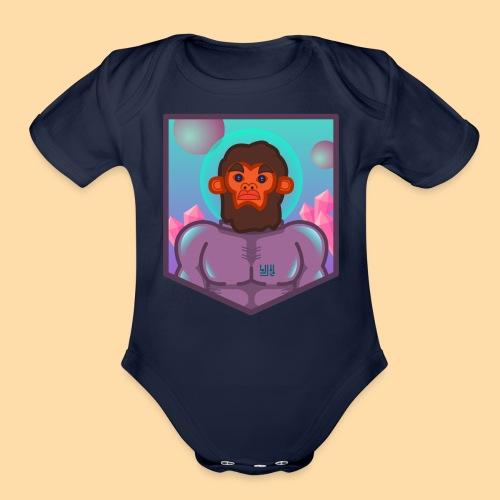 First Officer Monk - Organic Short Sleeve Baby Bodysuit