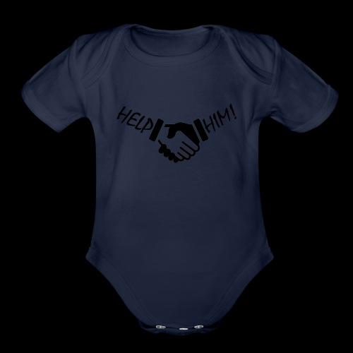 Help Him Merch - Organic Short Sleeve Baby Bodysuit