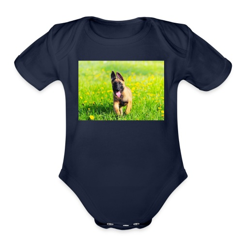 Dog - Organic Short Sleeve Baby Bodysuit