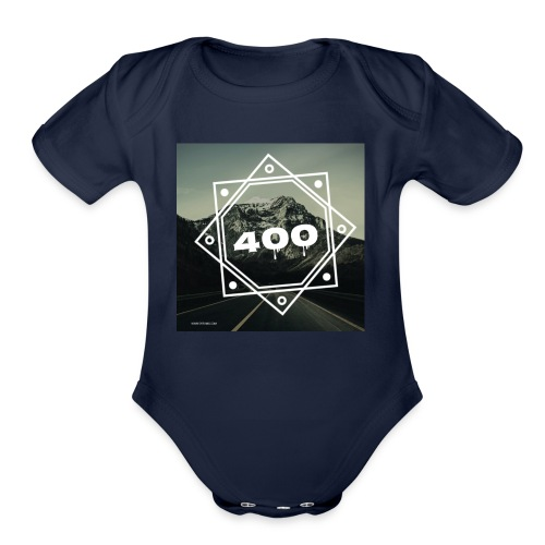 400 brand - Organic Short Sleeve Baby Bodysuit