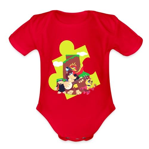 banjo - Organic Short Sleeve Baby Bodysuit