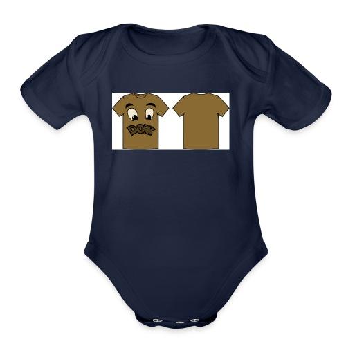 Randy final2 - Organic Short Sleeve Baby Bodysuit