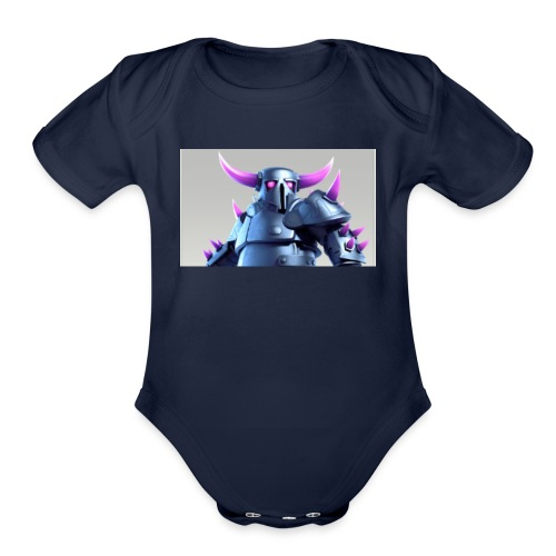 Destroyer Clash of Clans - Organic Short Sleeve Baby Bodysuit