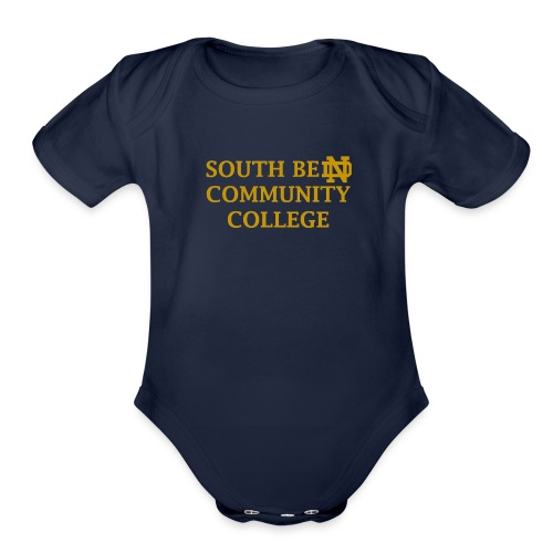 Notre Dame Community College - Organic Short Sleeve Baby Bodysuit