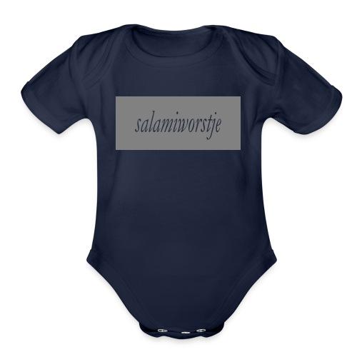 salamiworsje kleren - Organic Short Sleeve Baby Bodysuit