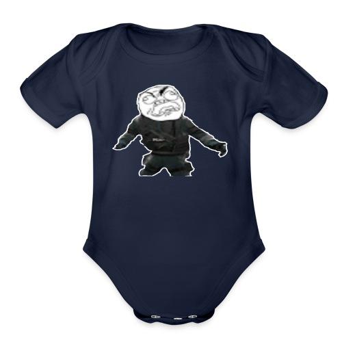 Stay Angry Logo - Organic Short Sleeve Baby Bodysuit