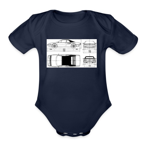 artists rendering - Organic Short Sleeve Baby Bodysuit