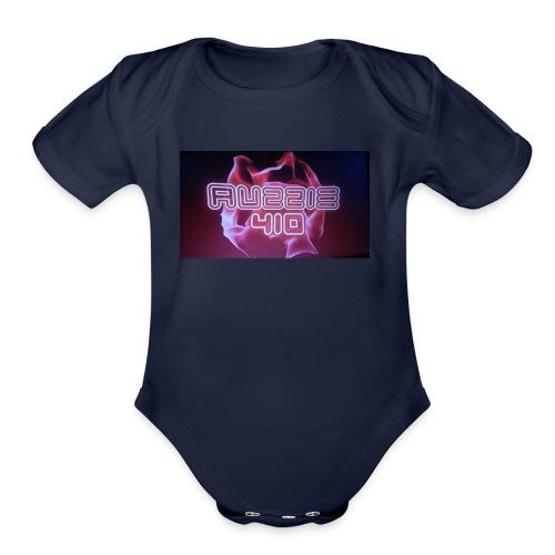 auzzie410 - Organic Short Sleeve Baby Bodysuit