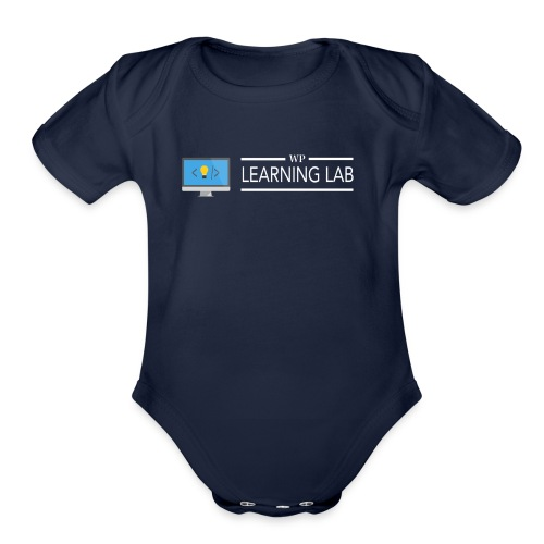 WP Learning Lab Logo - Organic Short Sleeve Baby Bodysuit